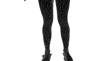 White Wireframe (Legs)